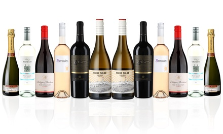 $119 for 12-Bottle of Mixed Red and White Euro Trip 4.0 Wine Case (Don't Pay $284)