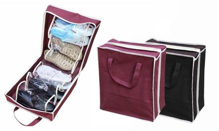 2 of 4 praktische schoenentassen voor tijdens het reizen in kleur naar keuze