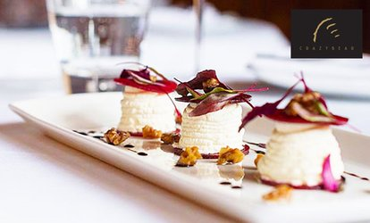 image for English or Thai Vegetarian Gourmet Menu with Premium Champagne at The Crazy Bear From £25.50 (Up to 64% Off)