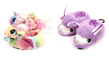3D Dream Llama or Unicorn Squad Girls Slippers