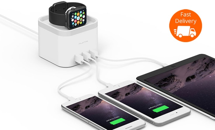 $49 for an Mbeat PowerTime Apple Watch Charging Dock with Three Charging Ports (Don't Pay $89.95)