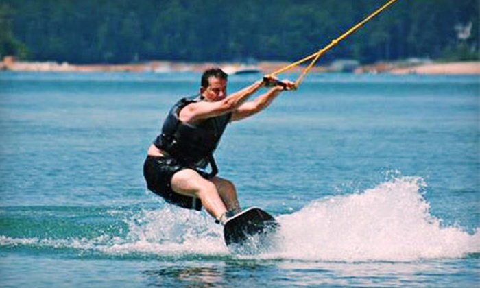 New Wave Cable Park - New Wave Cable Park: Cable-Wakeboarding Lesson for One or Session for Two or Five at New Wave Cable Park in Buford (Up to 61% Off)