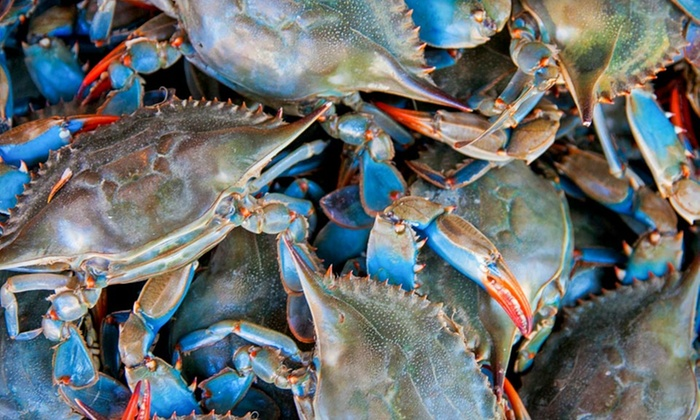 Maryland Blue Crab and Seafood: Maryland Blue Crab and Seafood from Chesapeake Crab Connection (Half Off). Multiple Options Available.