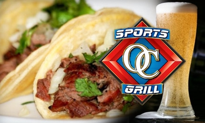 OC Sports Grill - Orange: $10 for $25 Worth of Grill Fare and Drinks at OC Sports Grill