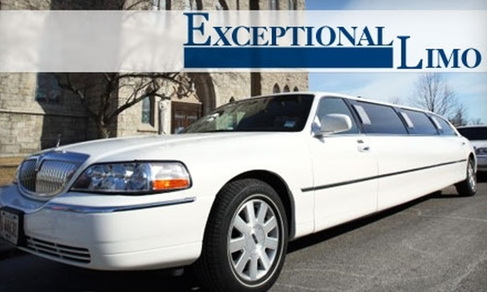Exceptional Limo - Norwood: $50 for $100 Worth of Transportation Services from Exceptional Limo
