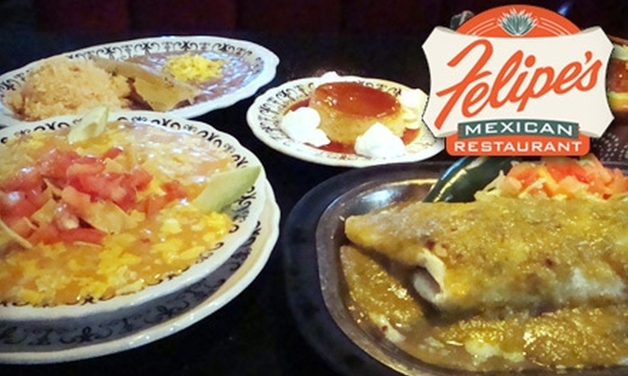 Felipe's Jr. Mexican Resaurant - Park Meadows: $7 for $14 Worth of Authentic Mexican Cuisine and Drinks at Felipe's Jr. Mexican Restaurant