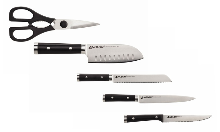 Anolon Stainless Steel Knife Set 17 Piece