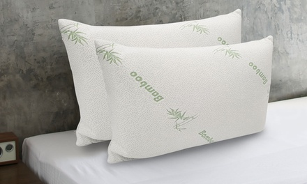 BambooCovered Memory Foam Pillows: One $25, Two $35 or Four $55 Don't Pay up to $258
