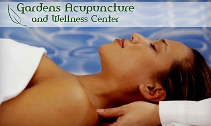 Gardens Acupuncture and Wellness Center - Gardens Condominiums: $45 for Colon Hydrotherapy ($90 Value) or $39 for One-Hour Massage ($85 Value) at Gardens Acupuncture and Wellness Center