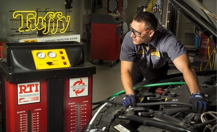 2135 Grand Ave. in West Des Moines: Oil-Change, Tire Rotation, and 41-Point Inspection (a $48 value) - Tuffy Auto Service in Ames