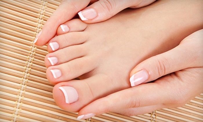 Stewart Michaels Hair Design Team - Lithonia: One or Three Mani-Pedis at Stewart Michaels Hair Design Team in Lithonia (Up to 58% Off)