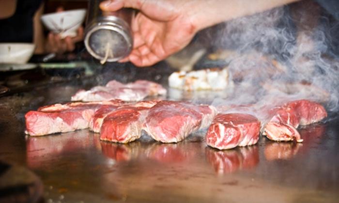 Ginza Sushi & Japanese Steakhouse - Shenandoah: Hibachi Fare and Drinks at Ginza Sushi & Japanese Steakhouse. Two Options Available.