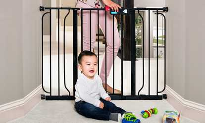Shop Groupon Regalo Extra Wide Walk Through Baby Safety Gate