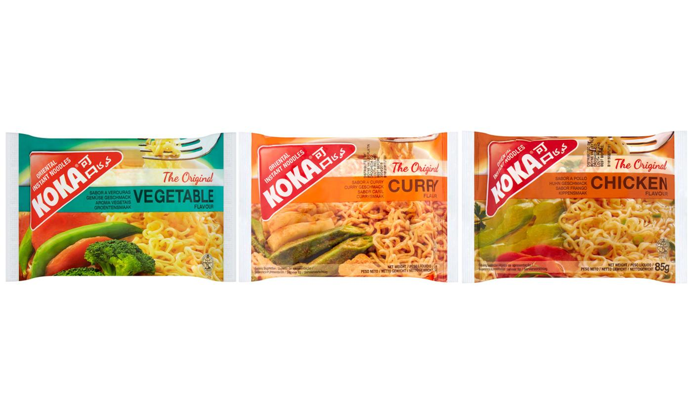 30- or 60-Pack of Koka Noodles in Different Flavours