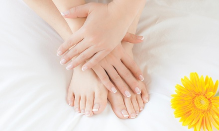 A Spa Manicure and Pedicure from Jv Style Nail & Spa (50% Off)