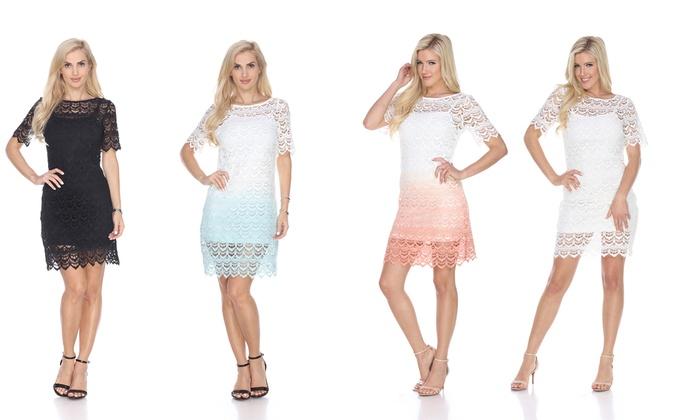 White Mark Aria Women's Lace Dress