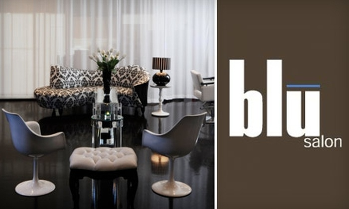 Blu Salon - Hamilton: $50 for a Facial and a Blow-Dry at Blu Salon in Edgewater (Up to $160 Value)