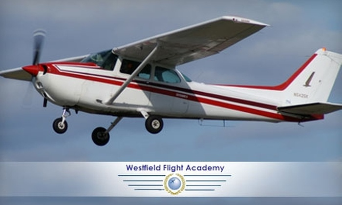 Westfield Flight Academy - Westfield: $99 for an Introductory Flying Lesson from Westfield Flight Academy ($199 Value)