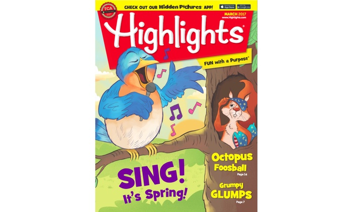 Highlights: 1-Year, 12-Issue Subscription to Highlights, High Five, High Five Bilingue, or Hello Magazine (25% Off)