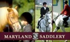 Maryland Saddlery/Featherdown Farm - Multiple Locations: $55 for a Two-Hour Horseback-Riding Lesson at Featherdown Farm Plus a Riding Helmet from Maryland Saddlery ($130 Value)
