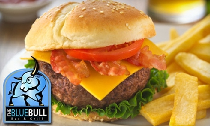The Blue Bull Bar & Grill - Downtown Springfield: $10 for $20 Worth of American Fare and Drinks at The Blue Bull Bar & Grill