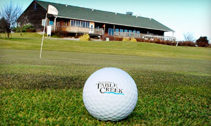 Table Creek Golf Course  - Nebraska City: 18 Holes or Unlimited Golf for Two with a Cart and Range Balls at Table Creek Golf Course in Nebraska City