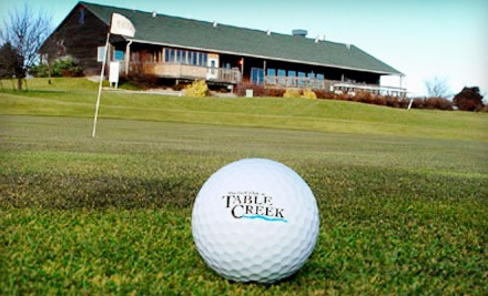 Table Creek Golf Course: 18 Holes of Golf for 2, Cart Rental, and 2 Buckets of Range Balls - Table Creek Golf Course  in Nebraska City