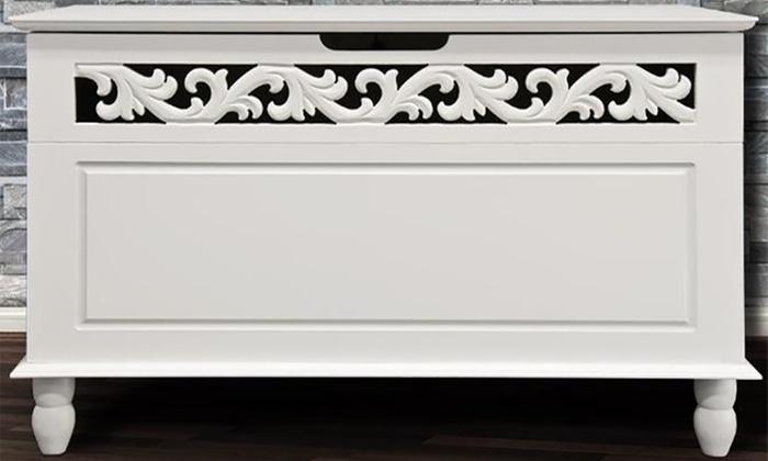 White Wooden Storage Chest