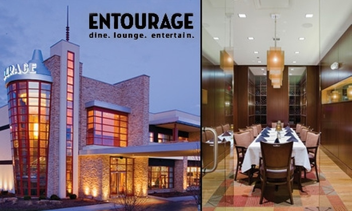 Entourage - Schaumburg: $25 for $55 Worth of Upscale American-Style Fare and Drinks at Entourage