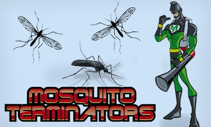 Mosquito Terminators - Tulsa: $69 for up to a Half-Acre Covering of Barrier Mosquito Spray from Mosquito Terminators ($139 Value)