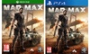 Mad Max Ps4 o Xbox One
