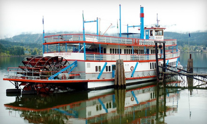 The Columbia Gorge Sternwheeler - Portland: $33 for a Riverboat Cruise for Two on the Columbia Gorge Sternwheeler and Locks Waterfront Cafe Voucher ($66 Value)