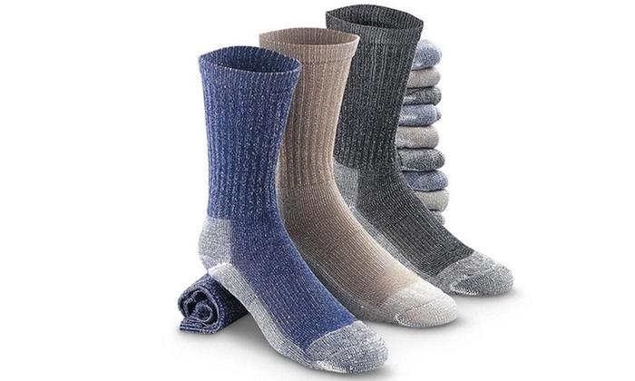 Refael Collection Merino Wool Thermal Socks (4-Pair)