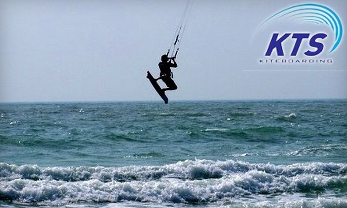 Kiss The Sky Kiteboarding - St. Petersburg: $49 for a Land Lesson ($100 Value) or $149 for a Land and Water Lesson ($300 Value) at Kiss The Sky Kiteboarding in Tierra Verde
