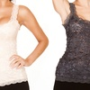 Black Fuchsia All Over Lace Camis
