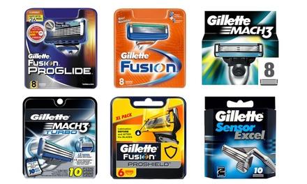 Jusquà 64 lames de rasoir Gillette Fusion Proglide, Fusion, Mach3, Turbo, Proshield, Sensor Excel, dès 21,90€