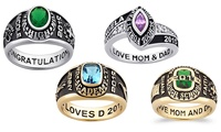 Women's Personalized Class Ring in Silver or Yellow-Gold Celebrium from Limogés Jewelry (Up to 82% Off)