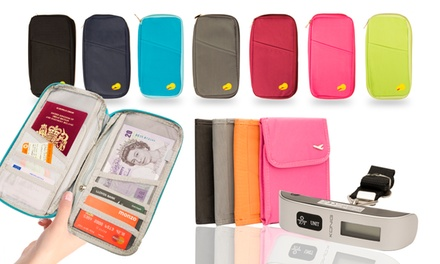Passport Holder £3.95, Digital Luggage Scale £5.99 or Set from £7.99