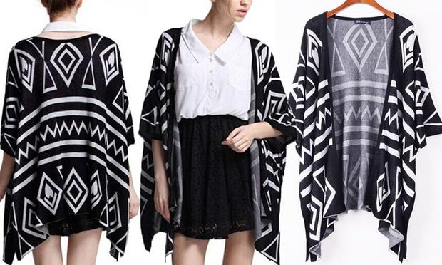 Aztec Kimono Cardigan | Groupon Goods