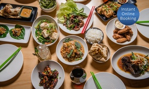 Tenpin Kitchen: Waterfront Asian Fusion Banquet + Wine for 2 ($59), 4 ($115) or 6 People ($176) at Tenpin Kitchen (Up to $454.50 Value)