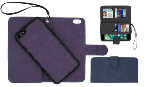 Smartphone Wallet with Removable Case for iPhone