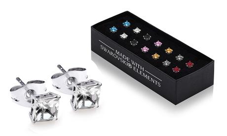 Set de 7 pendientes con cristales Swarovski®