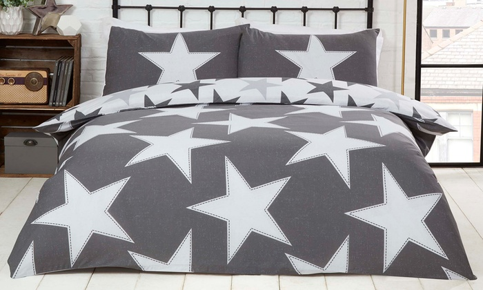 Rapport HomeAll Stars Reversible Duvet Cover Set in Choice of Colour from £11