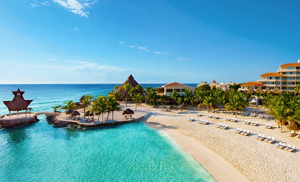 TripAlertz wants you to check out ✈ All-Inclusive Dreams Puerto Aventuras with Nonstop Air. Price/Person Based on Double Occupancy (Buy 1 Groupon/Person) ✈ All-Inclusive Stay with Nonstop Air from Apple Vacations  - All-Inclusive Mexico Trip w/ Air