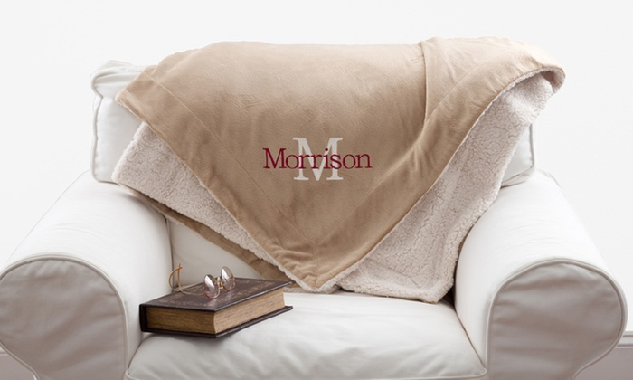 50% Off Personalized Sherpa Blanket from Personalization Mall ... 6f19991dc