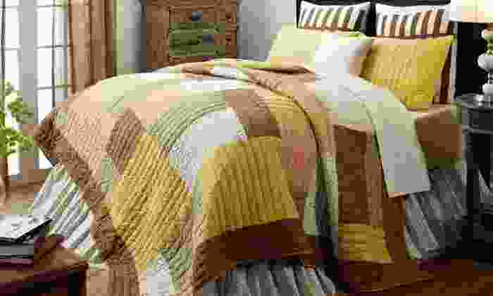2- and 3-Piece 100% Cotton Quilt Sets: 2- and 3-Piece 100% Cotton Quilt Sets. Multiple Options Available from $79.99–$139.99. Free Shipping and Returns.