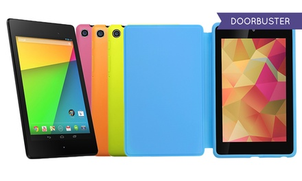 """ASUS Google Nexus 7 16GB 7"""" Android Tablet with Full-HD Display and Optional Travel Cover"""