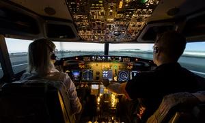 SunJet Simulations: Flight Simulator Experience - $69 for 30 Minutes, or $139 for 90 Minutes at SunJet Simulations (Up to $349 Value)