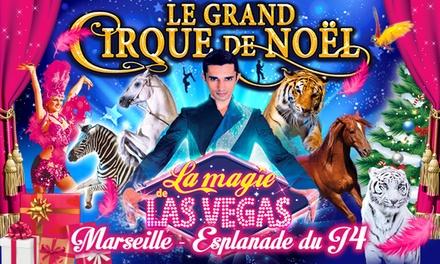 1 place en tribune dhonneur pour Le Grand Cirque de Noël et la Magie de Las Vegas, date au choix à 12 € à Marseille
