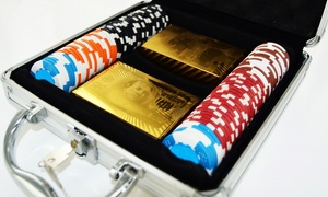 Mallette de Poker cartes Or